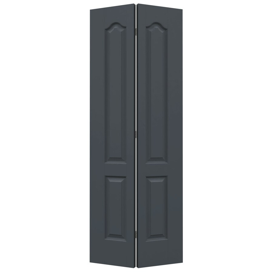 JELD-WEN Princeton Slate Hollow Core Molded Composite Bi-Fold Closet Interior Door with Hardware (Common: 24-in x 80-in; Actual: 23.5-in x 79-in)
