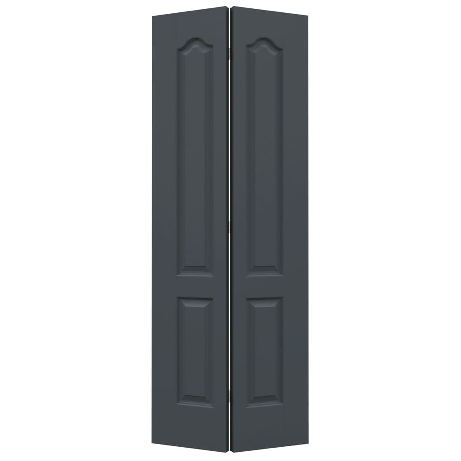 JELD-WEN Slate Hollow Core 2-Panel Arch Top Bi-Fold Closet Interior Door (Common: 28-in x 80-in; Actual: 27.5-in x 79-in)