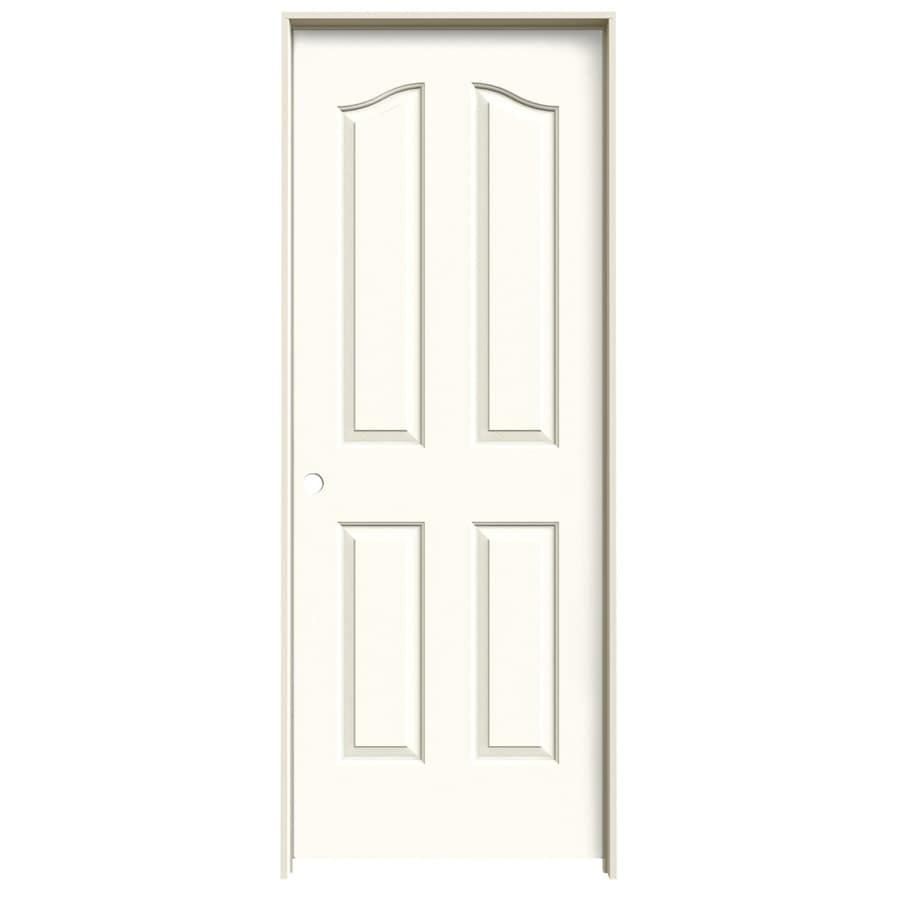 Shop Jeld Wen Provincial White Hollow Core Molded Composite Single Prehung Interior Door Common
