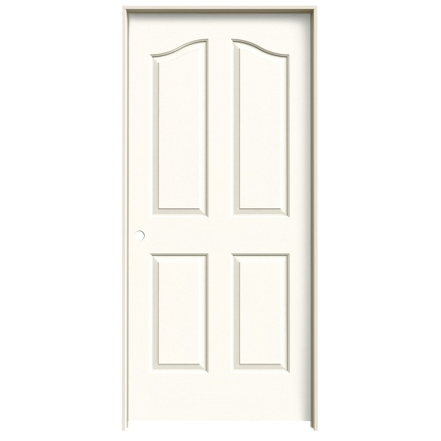 JELD-WEN White Prehung Hollow Core 4-Panel Arch Top Interior Door (Common: 36-in x 80-in; Actual: 37.562-in x 81.69-in)