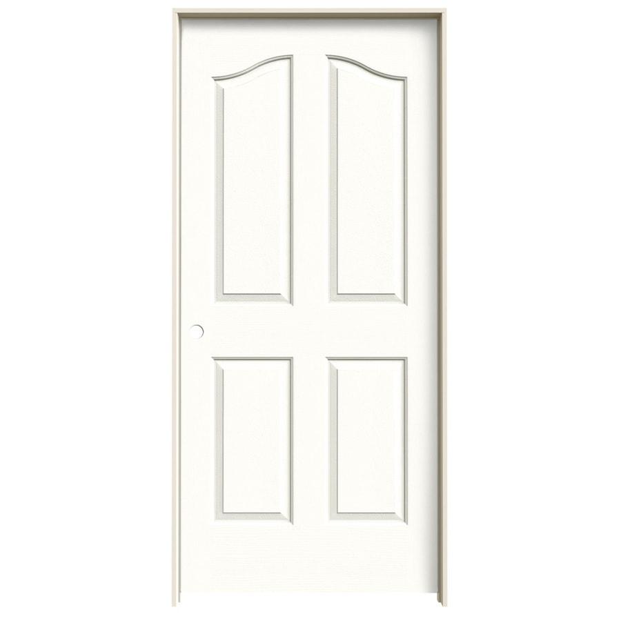 JELD-WEN Snow Storm Prehung Hollow Core 4-Panel Arch Top Interior Door (Common: 36-in x 80-in; Actual: 37.562-in x 81.69-in)