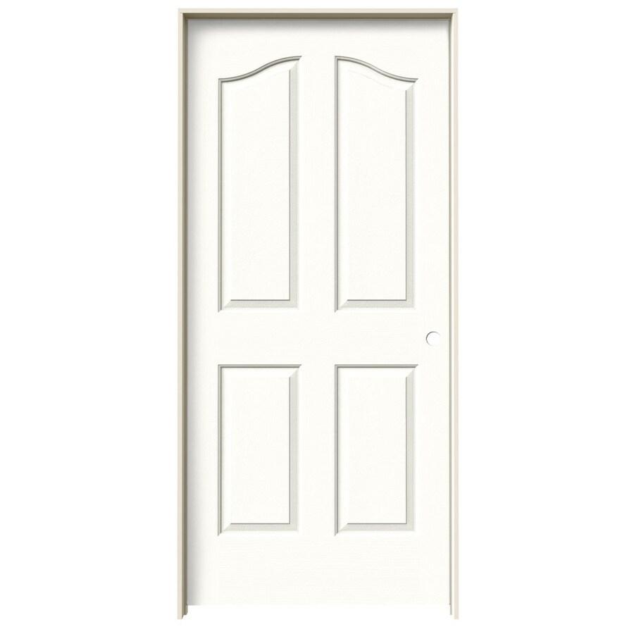 JELD-WEN Provincial Snow Storm Hollow Core Molded Composite Single Prehung Interior Door (Common: 36-in x 80-in; Actual: 37.5620-in x 81.6900-in)