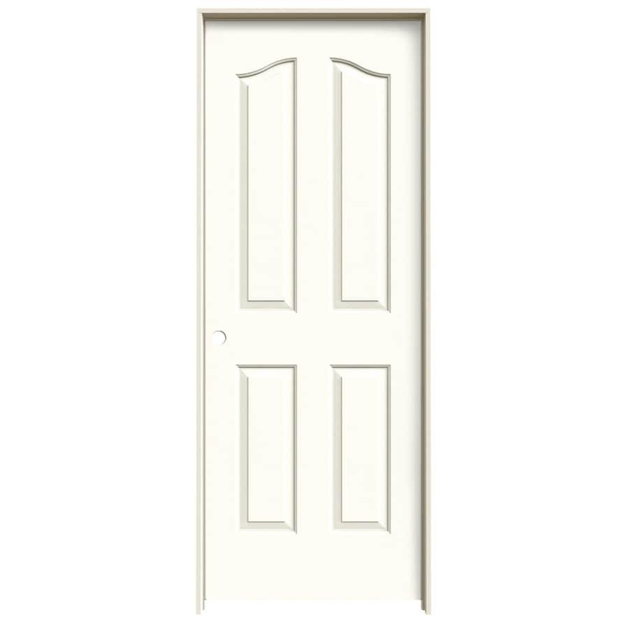 JELD-WEN Coventry Moonglow 4-panel Arch Top Single Prehung Interior Door (Common: 24-in x 80-in; Actual: 25.5620-in x 81.6900-in)