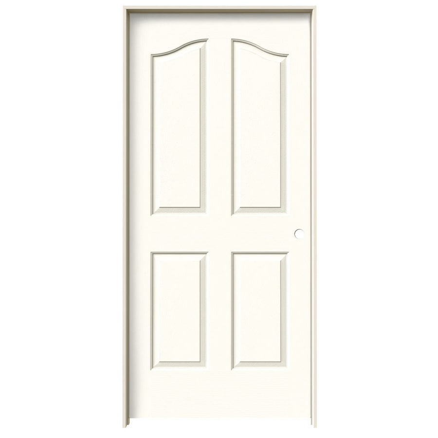 JELD-WEN Moonglow Prehung Hollow Core 4-Panel Arch Top Interior Door (Common: 36-in x 80-in; Actual: 37.562-in x 81.69-in)