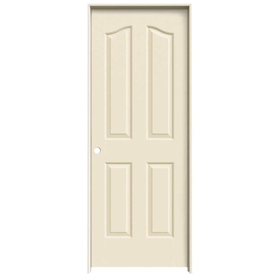 JELD-WEN Provincial Cream-N-Sugar Hollow Core Molded Composite Single Prehung Interior Door (Common: 28-in x 80-in; Actual: 29.562-in x 81.69-in)