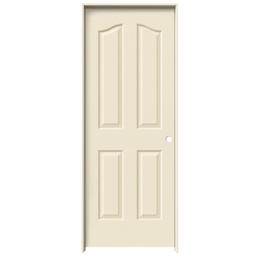 JELD-WEN Cream-N-Sugar Prehung Hollow Core 4-Panel Arch Top Interior Door (Common: 32-in x 80-in; Actual: 33.562-in x 81.69-in)