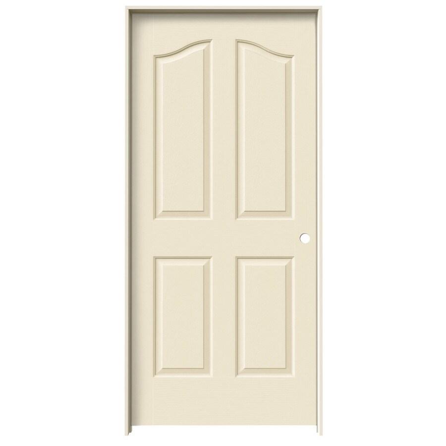 JELD-WEN Coventry Cream-n-sugar 4-panel Arch Top Single Prehung Interior Door (Common: 36-in x 80-in; Actual: 37.562-in x 81.69-in)