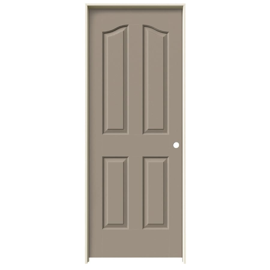 JELD-WEN Coventry Sand Piper 4-panel Arch Top Single Prehung Interior Door (Common: 28-in x 80-in; Actual: 29.562-in x 81.69-in)