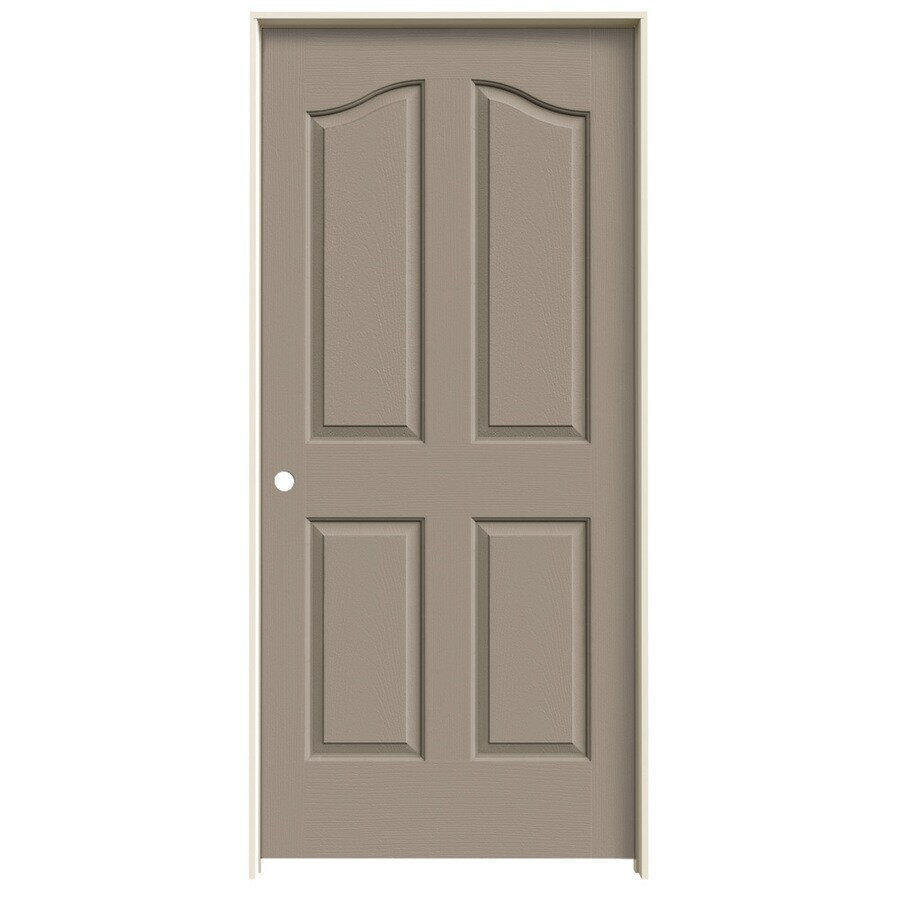 JELD-WEN Sand Piper Prehung Hollow Core 4-Panel Arch Top Interior Door (Common: 36-in x 80-in; Actual: 37.562-in x 81.69-in)