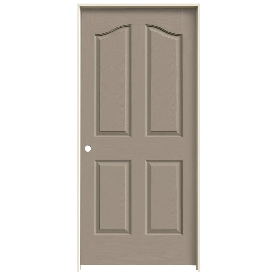 JELD-WEN Coventry Sand Piper 4-panel Arch Top Single Prehung Interior Door (Common: 36-in x 80-in; Actual: 37.562-in x 81.69-in)