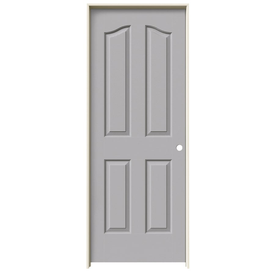 JELD-WEN Driftwood Prehung Hollow Core 4-Panel Arch Top Interior Door (Common: 24-in x 80-in; Actual: 25.562-in x 81.69-in)