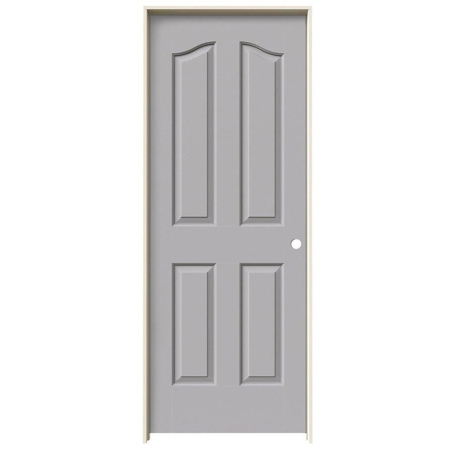 JELD-WEN Coventry Driftwood 4-panel Arch Top Single Prehung Interior Door (Common: 32-in x 80-in; Actual: 33.562-in x 81.69-in)