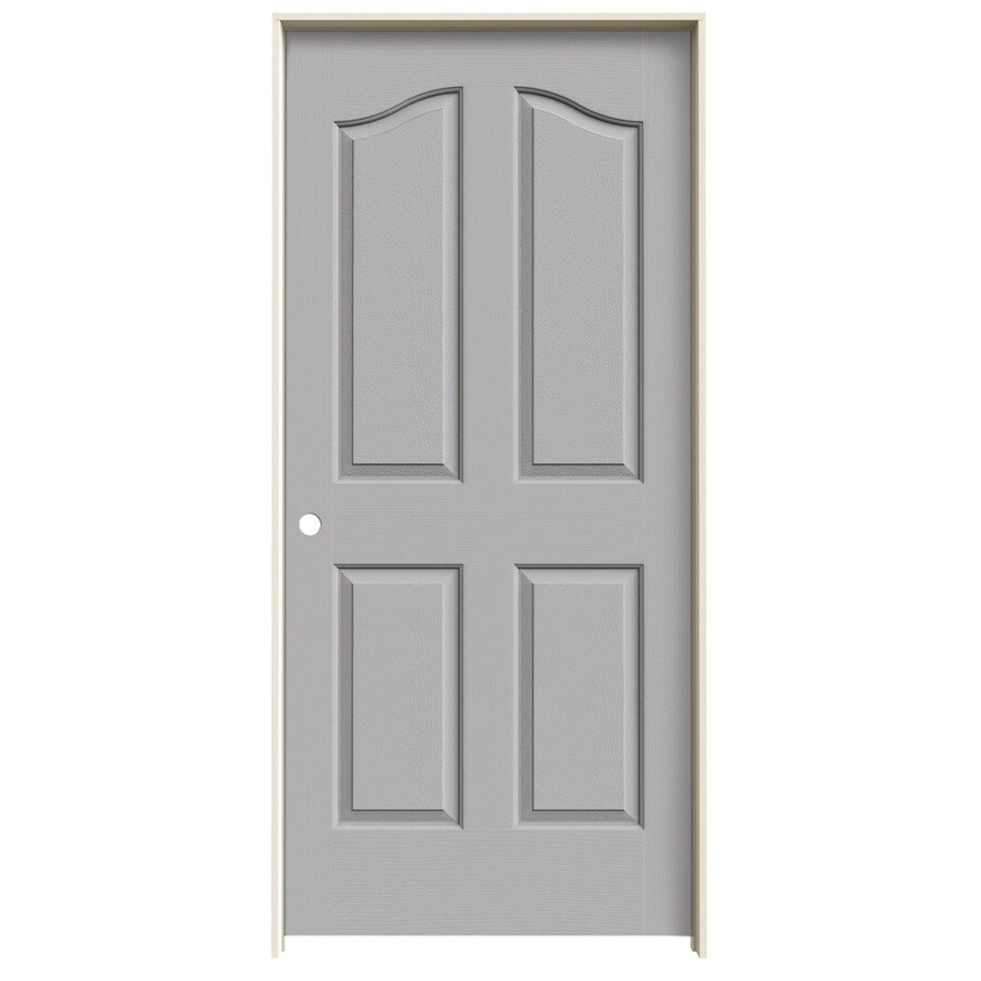JELD-WEN Driftwood Prehung Hollow Core 4-Panel Arch Top Interior Door (Common: 36-in x 80-in; Actual: 37.562-in x 81.69-in)