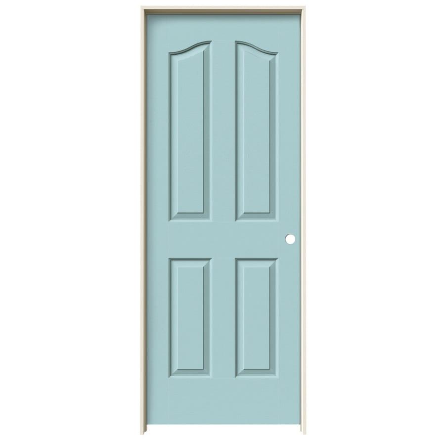 JELD-WEN Provincial Sea Mist Single Prehung Interior Door (Common: 28-in x 80-in; Actual: 29.5620-in x 81.6900-in)