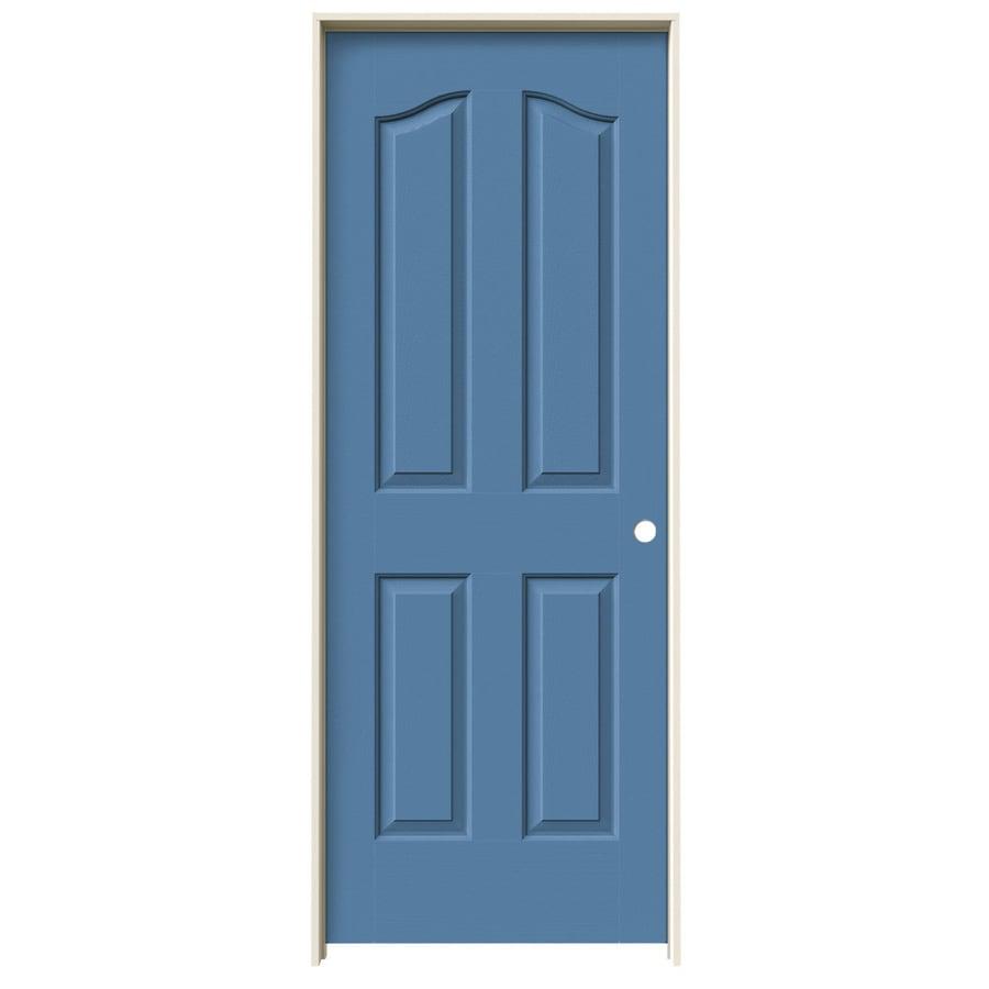 JELD-WEN Provincial Blue Heron Hollow Core Molded Composite Single Prehung Interior Door (Common: 24-in x 80-in; Actual: 25.562-in x 81.69-in)