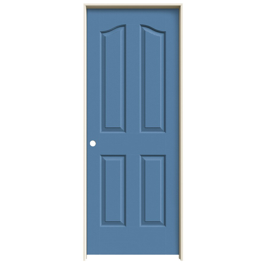 JELD-WEN Blue Heron Prehung Hollow Core 4-Panel Arch Top Interior Door (Common: 30-in x 80-in; Actual: 31.562-in x 81.69-in)