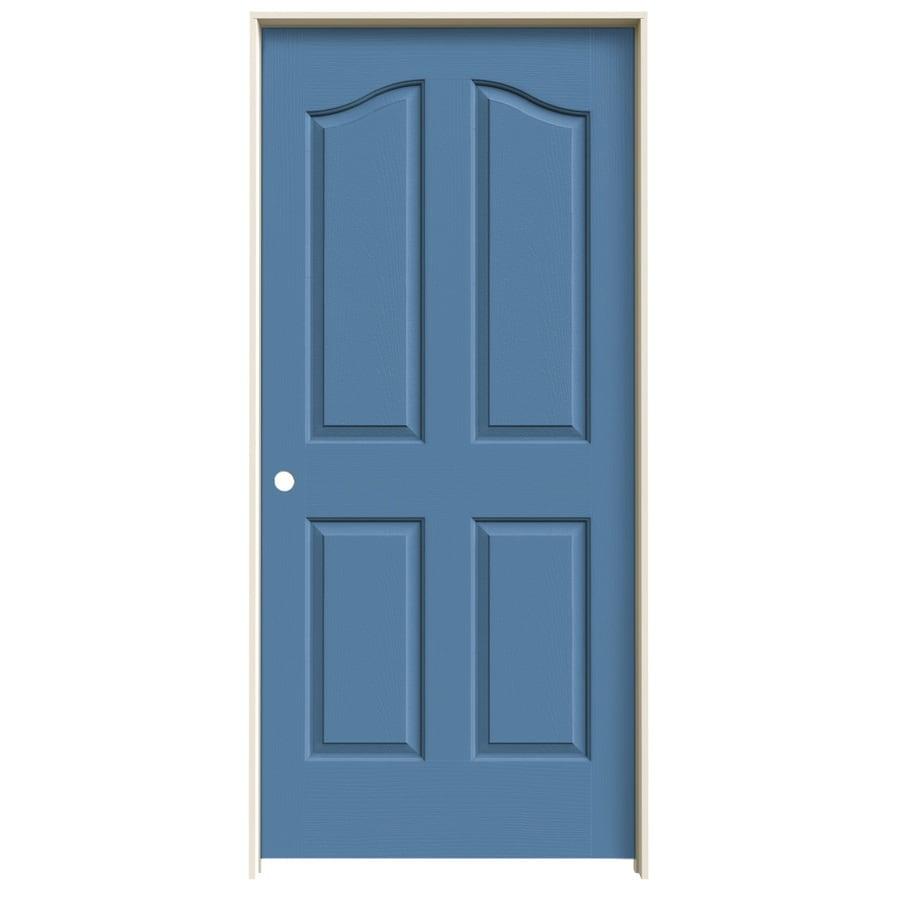 JELD-WEN Blue Heron Prehung Hollow Core 4-Panel Arch Top Interior Door (Common: 36-in x 80-in; Actual: 37.562-in x 81.69-in)