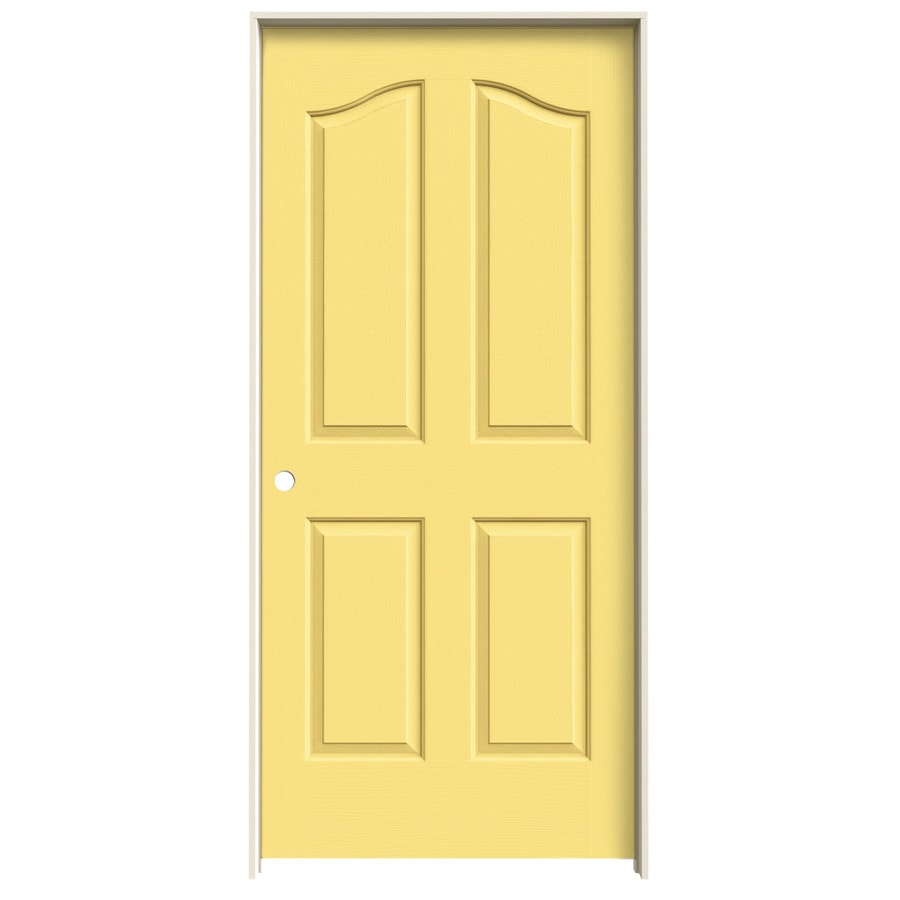 JELD-WEN Marigold Prehung Hollow Core 4-Panel Arch Top Interior Door (Common: 36-in x 80-in; Actual: 37.562-in x 81.69-in)