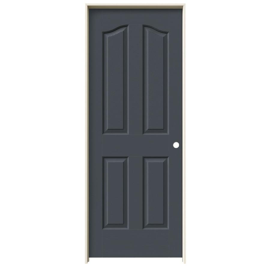 JELD-WEN Slate Prehung Hollow Core 4-Panel Arch Top Interior Door (Common: 28-in x 80-in; Actual: 29.562-in x 81.69-in)