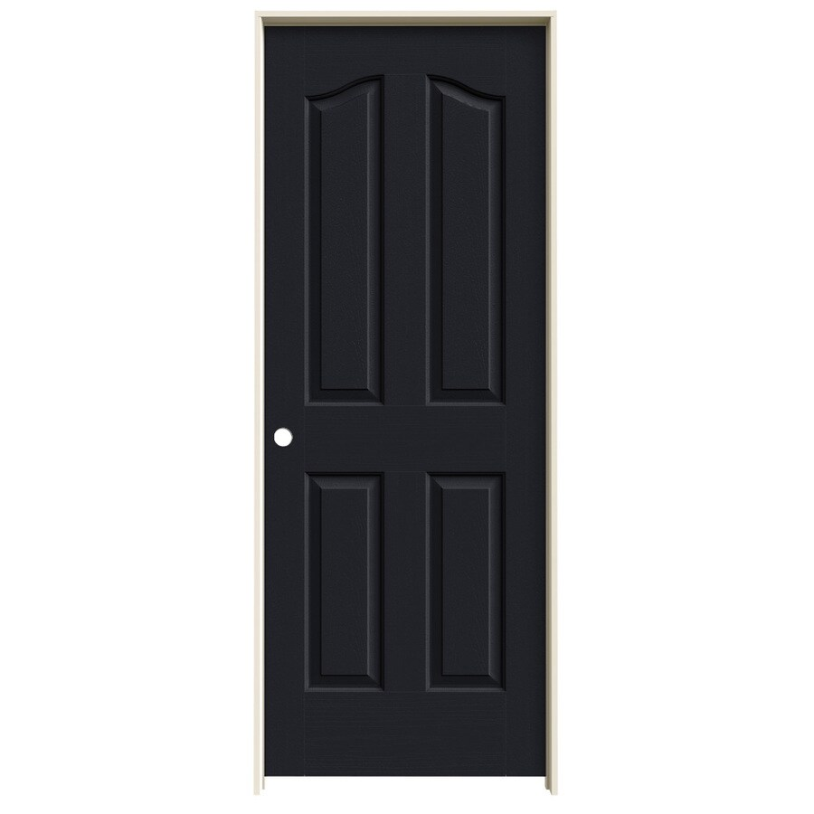 JELD-WEN Provincial Midnight Hollow Core Molded Composite Single Prehung Interior Door (Common: 28-in x 80-in; Actual: 29.562-in x 81.69-in)