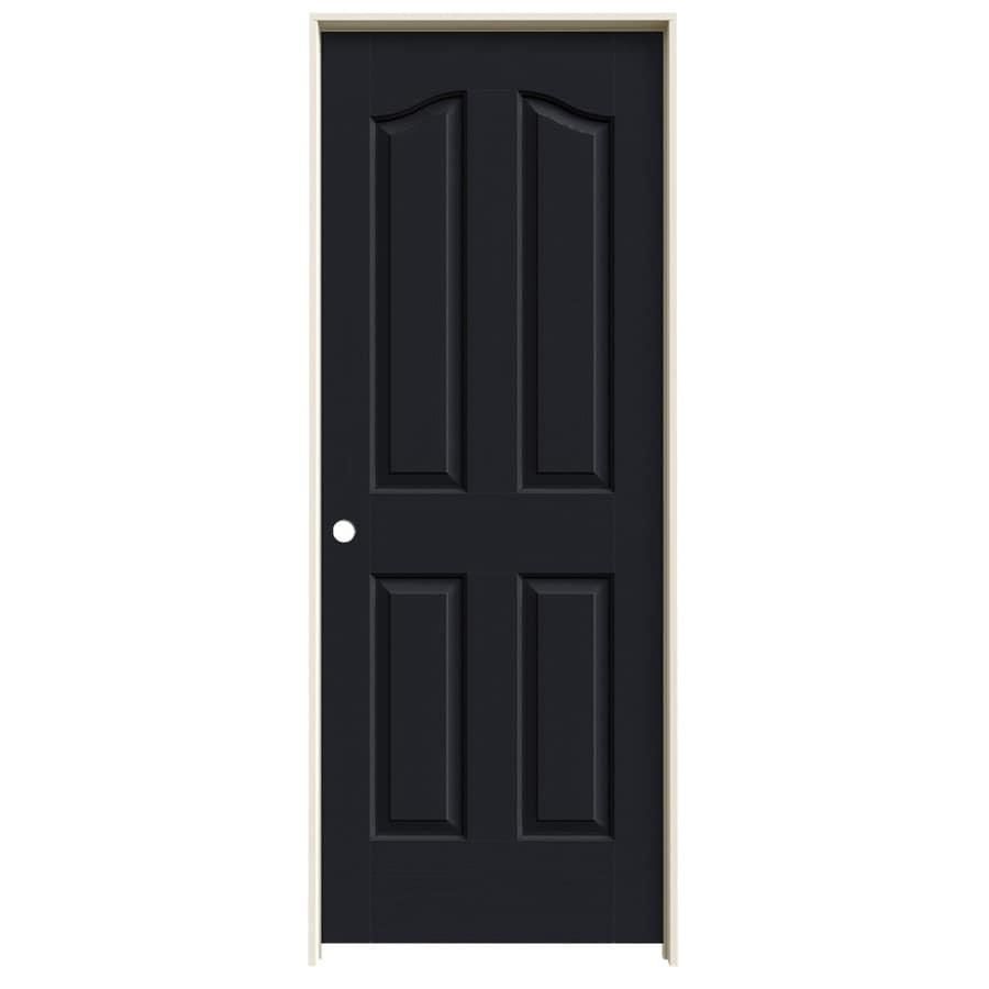JELD-WEN Coventry Midnight 4-panel Arch Top Single Prehung Interior Door (Common: 28-in x 80-in; Actual: 29.5620-in x 81.6900-in)