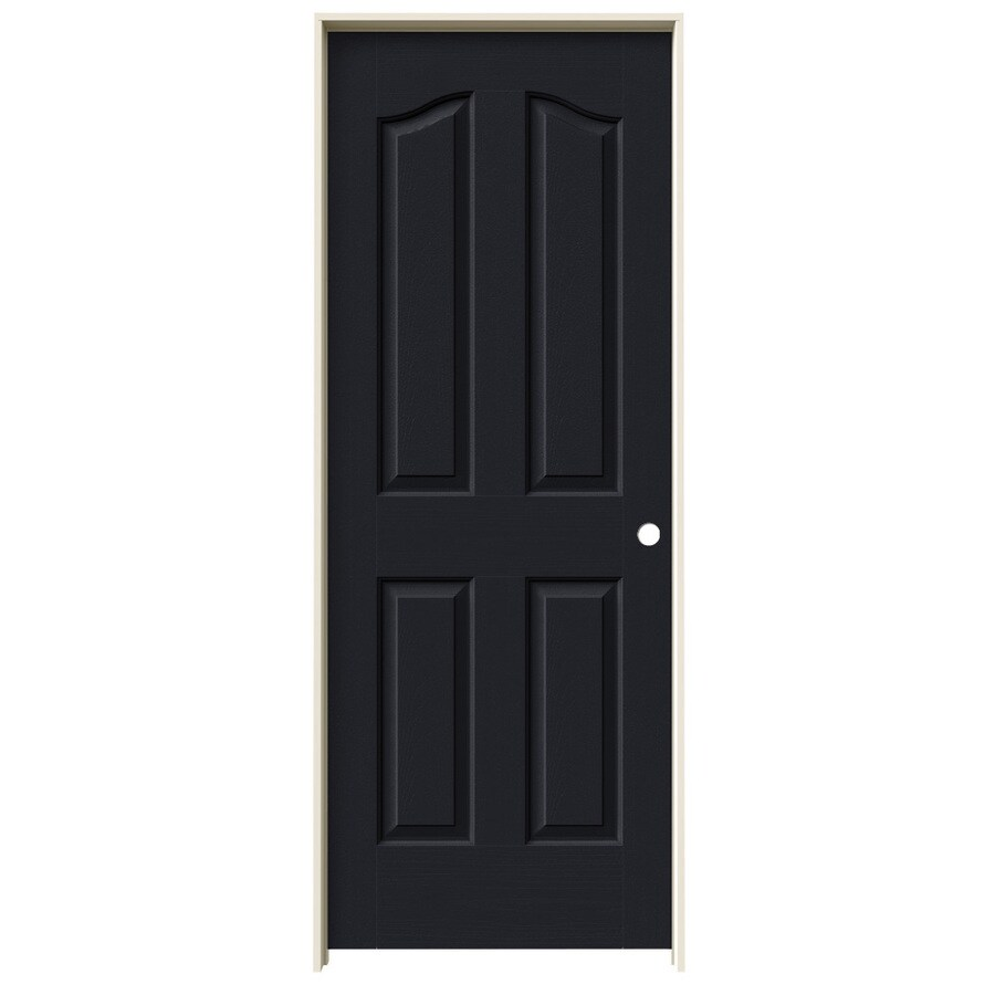 JELD-WEN Midnight Prehung Hollow Core 4-Panel Arch Top Interior Door (Common: 32-in x 80-in; Actual: 33.562-in x 81.69-in)