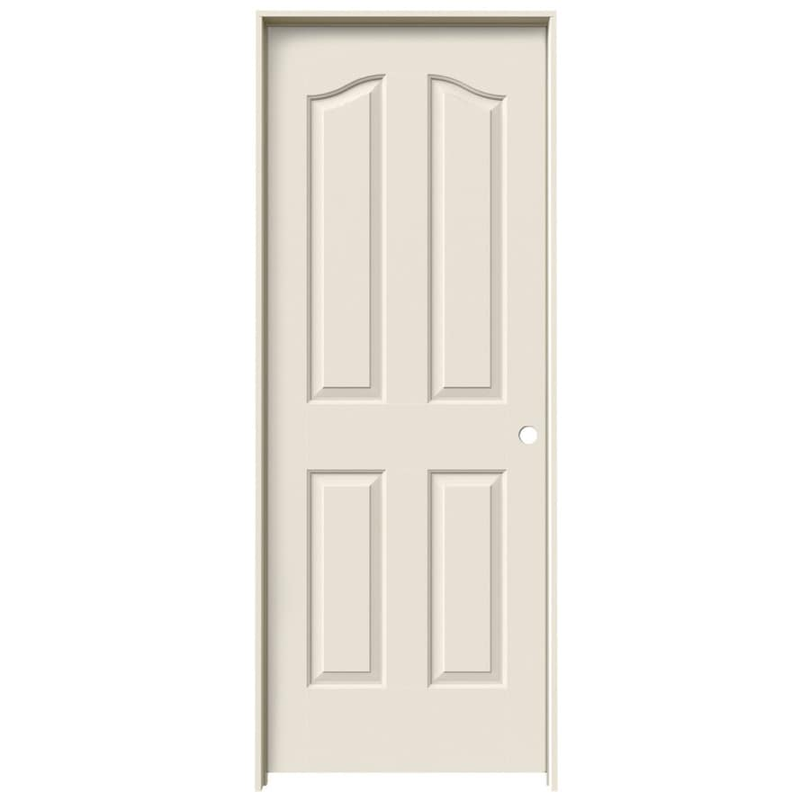 JELD-WEN Prehung Hollow Core 4-Panel Arch Top Interior Door (Common: 32-in x 80-in; Actual: 33.562-in x 81.69-in)