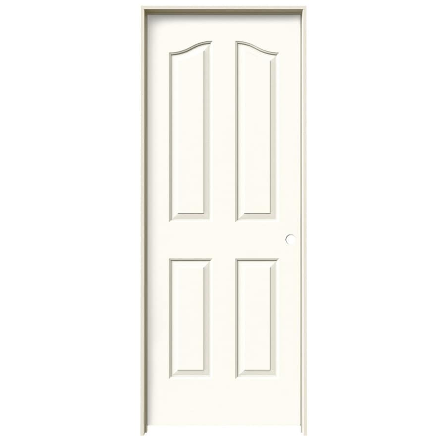 JELD-WEN White Prehung Solid Core 4-Panel Arch Top Interior Door (Common: 28-in x 80-in; Actual: 29.562-in x 81.69-in)