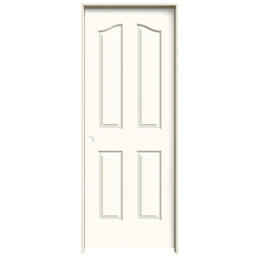 JELD-WEN White Prehung Solid Core 4-Panel Arch Top Interior Door (Common: 30-in x 80-in; Actual: 31.562-in x 81.69-in)