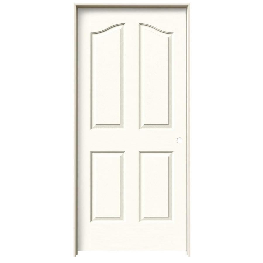JELD-WEN Coventry White 4-panel Arch Top Single Prehung Interior Door (Common: 36-in x 80-in; Actual: 37.562-in x 81.69-in)