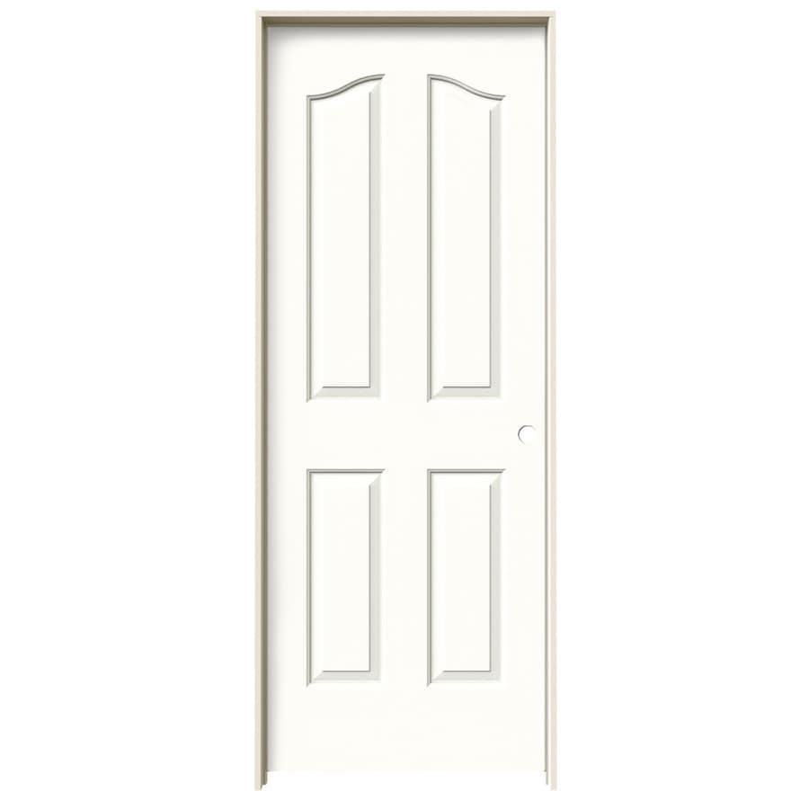 JELD-WEN Coventry Snow Storm 4-panel Arch Top Single Prehung Interior Door (Common: 24-in x 80-in; Actual: 25.562-in x 81.69-in)