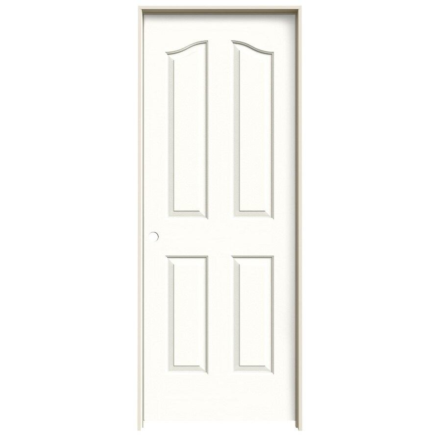 JELD-WEN Provincial Snow Storm Single Prehung Interior Door (Common: 30-in x 80-in; Actual: 31.562-in x 81.69-in)