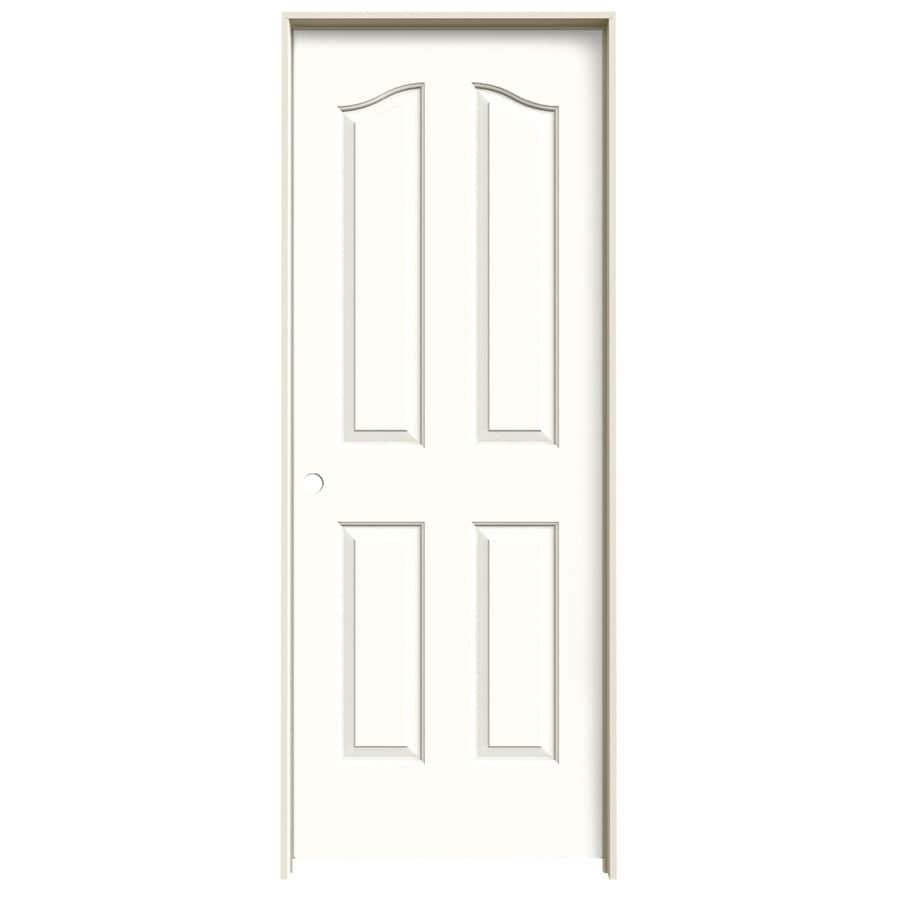 JELD-WEN Snow Storm Prehung Solid Core 4-Panel Arch Top Interior Door (Common: 32-in x 80-in; Actual: 33.562-in x 81.69-in)