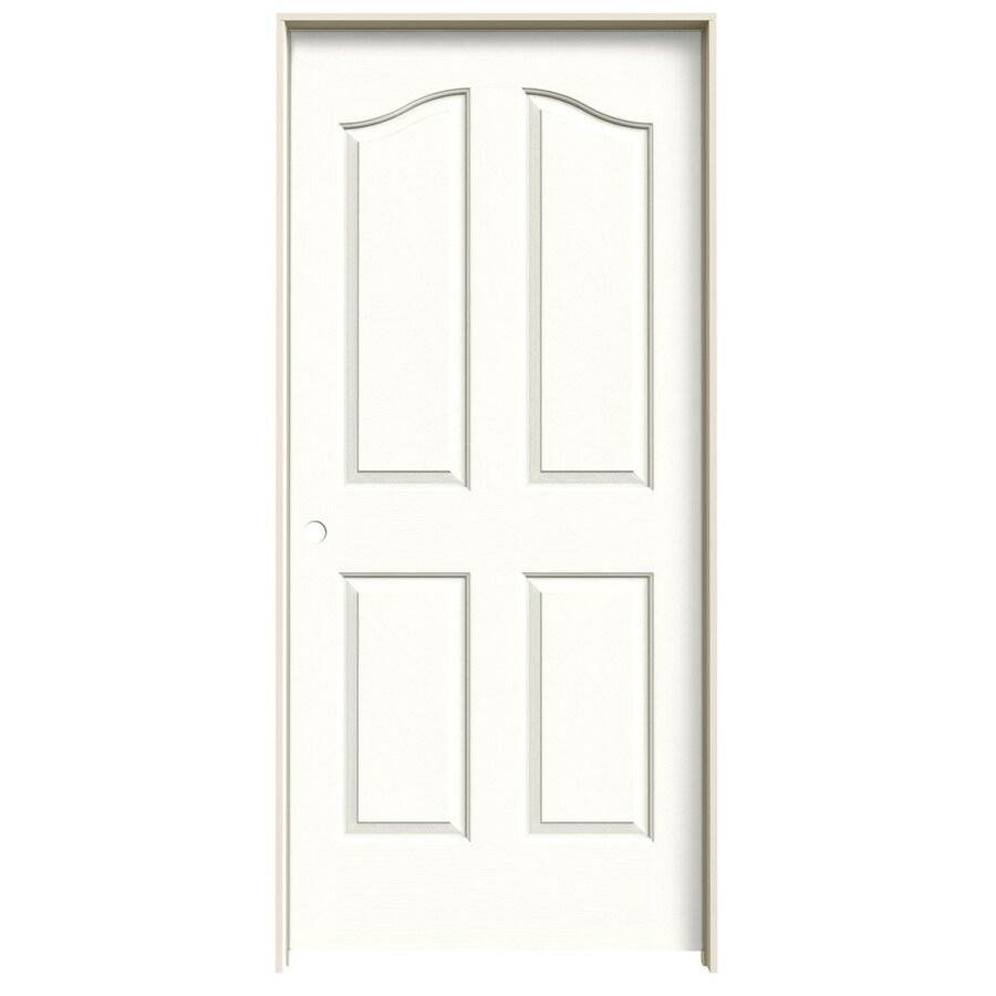Shop Jeld Wen Provincial Snow Storm Solid Core Molded Composite Single Prehung Interior Door