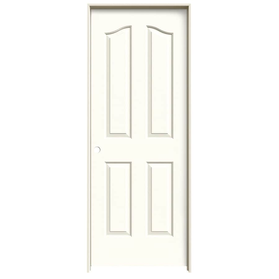 JELD-WEN Coventry Moonglow 4-panel Arch Top Single Prehung Interior Door (Common: 24-in x 80-in; Actual: 25.562-in x 81.69-in)