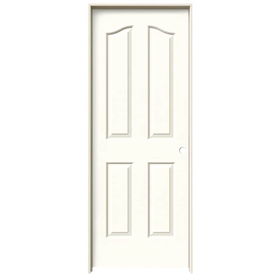 JELD-WEN Coventry Moonglow 4-panel Arch Top Single Prehung Interior Door (Common: 30-in x 80-in; Actual: 31.562-in x 81.69-in)