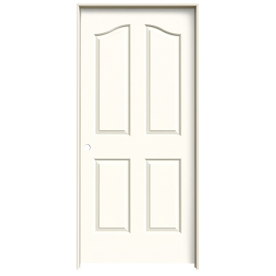 JELD-WEN Coventry Moonglow 4-panel Arch Top Single Prehung Interior Door (Common: 36-in X 80-in; Actual: 37.562-in x 81.69-in)