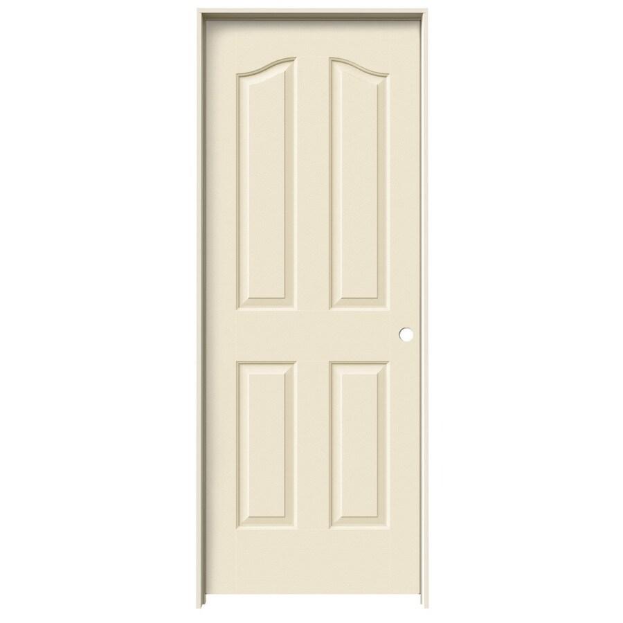 JELD-WEN Cream-N-Sugar Prehung Solid Core 4-Panel Arch Top Interior Door (Common: 32-in x 80-in; Actual: 33.562-in x 81.69-in)