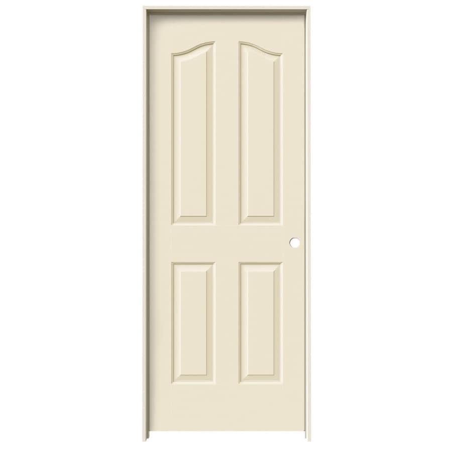 JELD-WEN Provincial Cream-N-Sugar Solid Core Molded Composite Single Prehung Interior Door (Common: 32-in x 80-in; Actual: 33.5620-in x 81.6900-in)