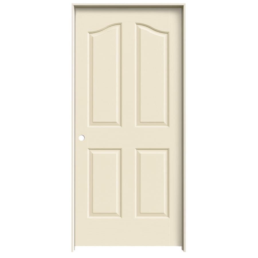 JELD-WEN Cream-N-Sugar Prehung Solid Core 4-Panel Arch Top Interior Door (Common: 36-in x 80-in; Actual: 37.562-in x 81.69-in)