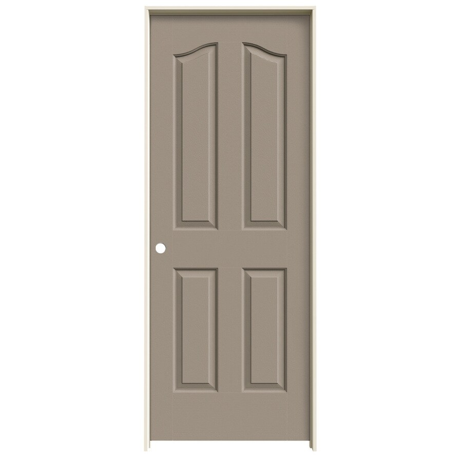 JELD-WEN Sand Piper Prehung Solid Core 4-Panel Arch Top Interior Door (Common: 24-in x 80-in; Actual: 25.562-in x 81.69-in)