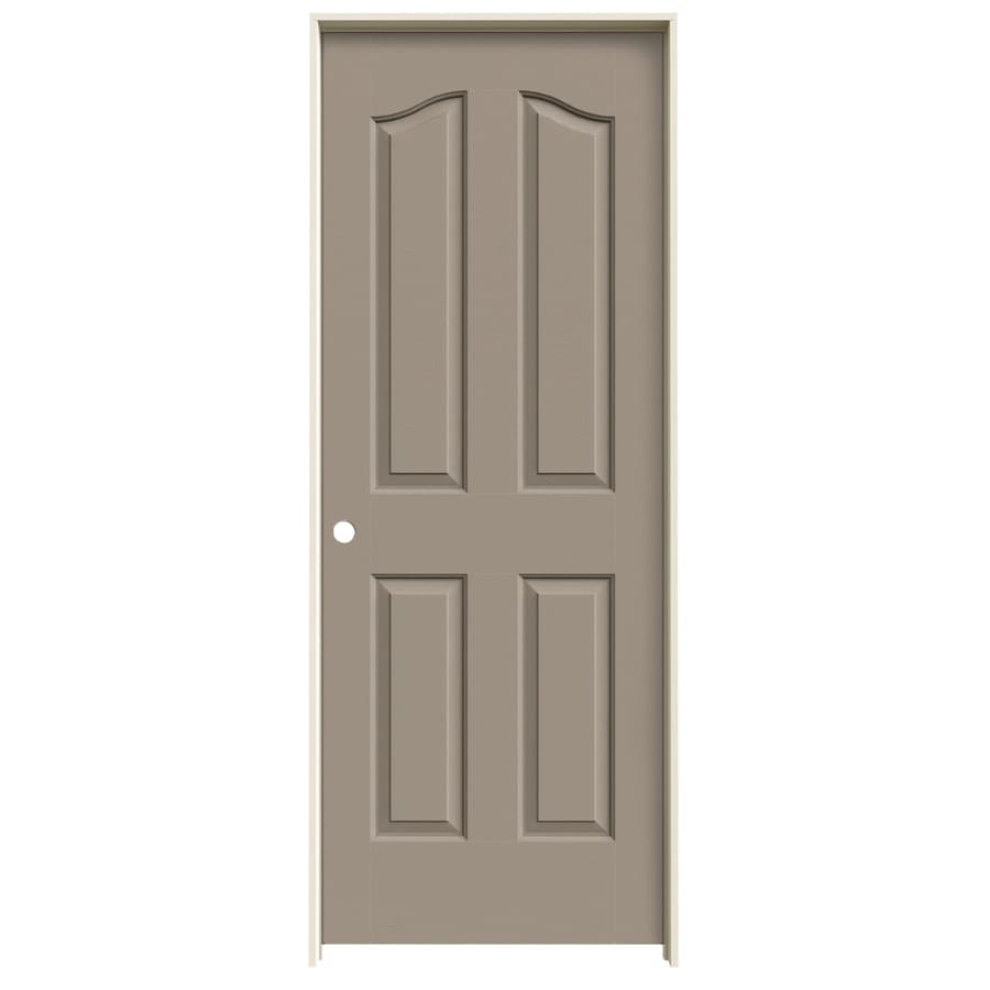 JELD-WEN Sand Piper Prehung Solid Core 4-Panel Arch Top Interior Door (Common: 32-in x 80-in; Actual: 33.562-in x 81.69-in)