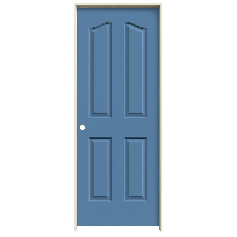 JELD-WEN Coventry Blue Heron 4-panel Arch Top Single Prehung Interior Door (Common: 24-in x 80-in; Actual: 25.562-in x 81.69-in)