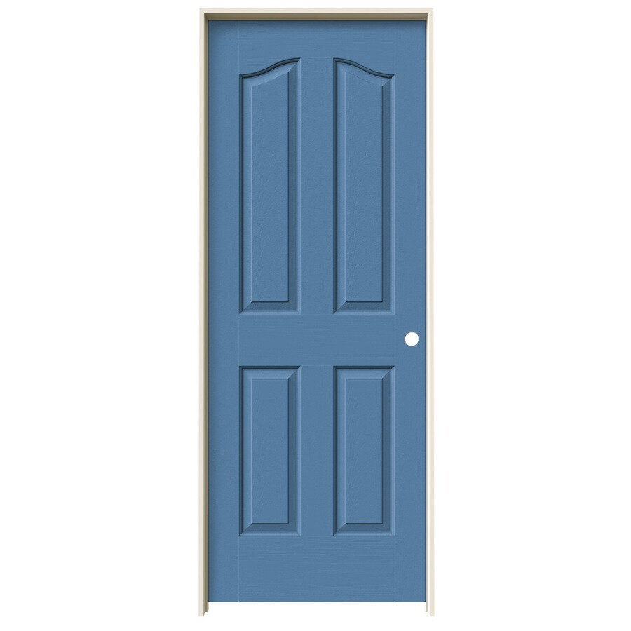 JELD-WEN Provincial Blue Heron Solid Core Molded Composite Single Prehung Interior Door (Common: 28-in x 80-in; Actual: 29.562-in x 81.69-in)