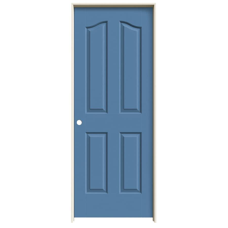 JELD-WEN Provincial Blue Heron Solid Core Molded Composite Single Prehung Interior Door (Common: 30-in x 80-in; Actual: 31.562-in x 81.69-in)