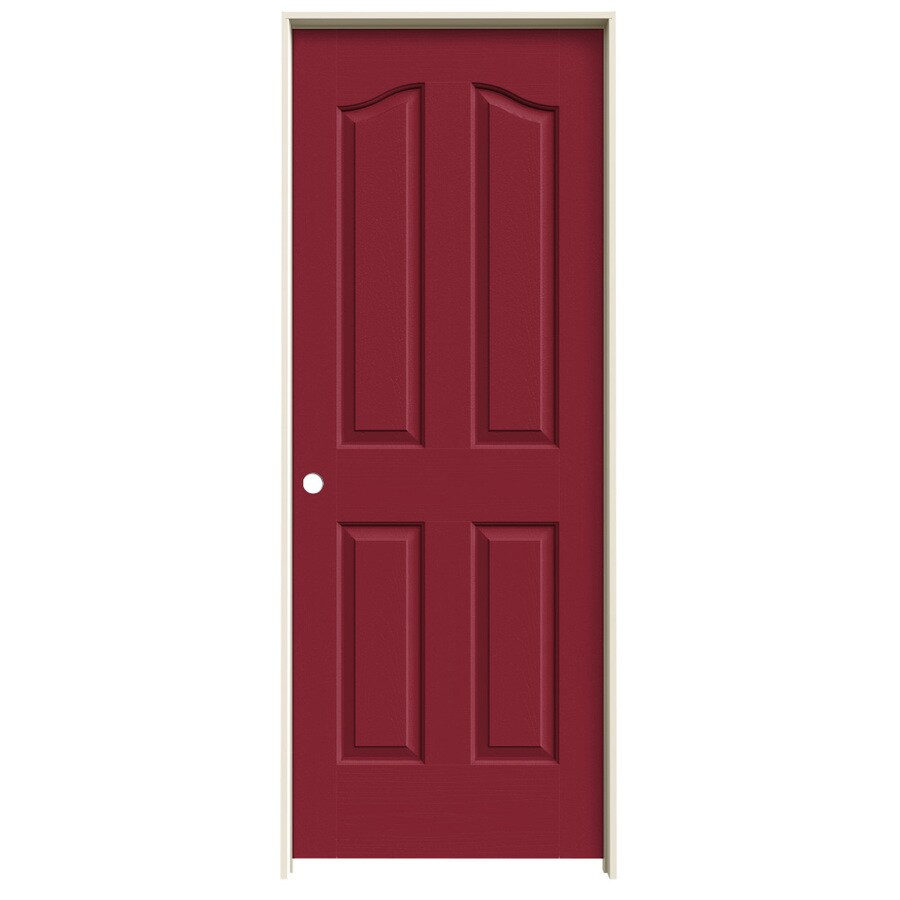 JELD-WEN Provincial Barn Red Single Prehung Interior Door (Common: 32-in x 80-in; Actual: 33.562-in x 81.69-in)