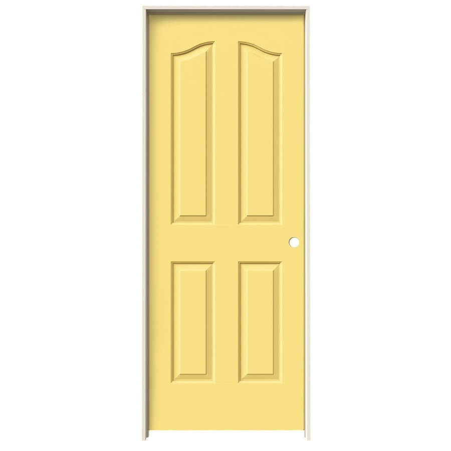JELD-WEN Provincial Marigold Single Prehung Interior Door (Common: 30-in x 80-in; Actual: 31.5620-in x 81.6900-in)