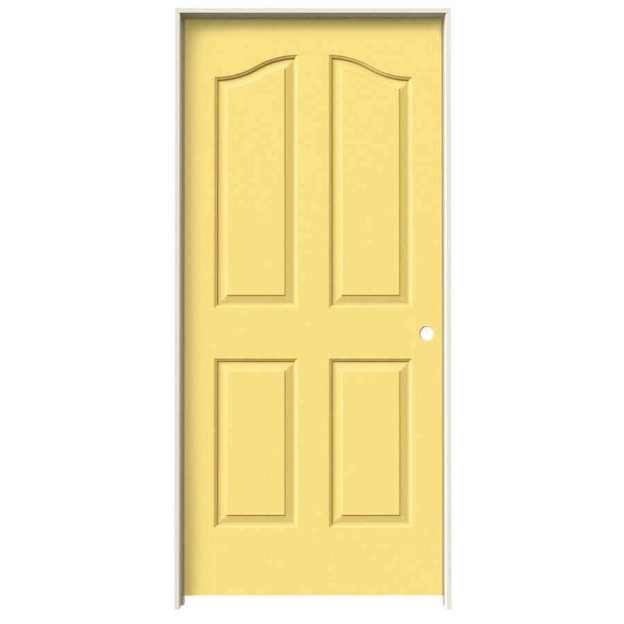 JELD-WEN Marigold Prehung Solid Core 4-Panel Arch Top Interior Door (Common: 36-in x 80-in; Actual: 37.562-in x 81.69-in)