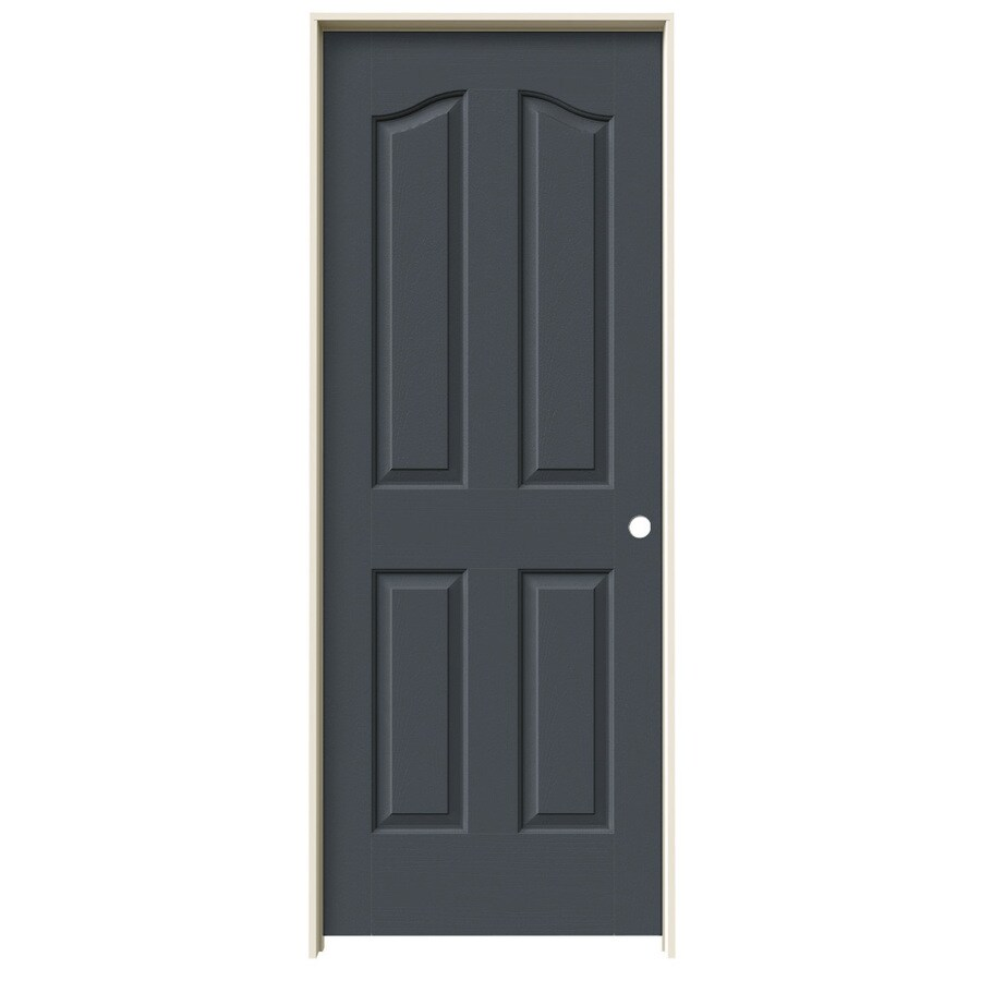 JELD-WEN Provincial Slate Solid Core Molded Composite Single Prehung Interior Door (Common: 24-in x 80-in; Actual: 25.5620-in x 81.6900-in)