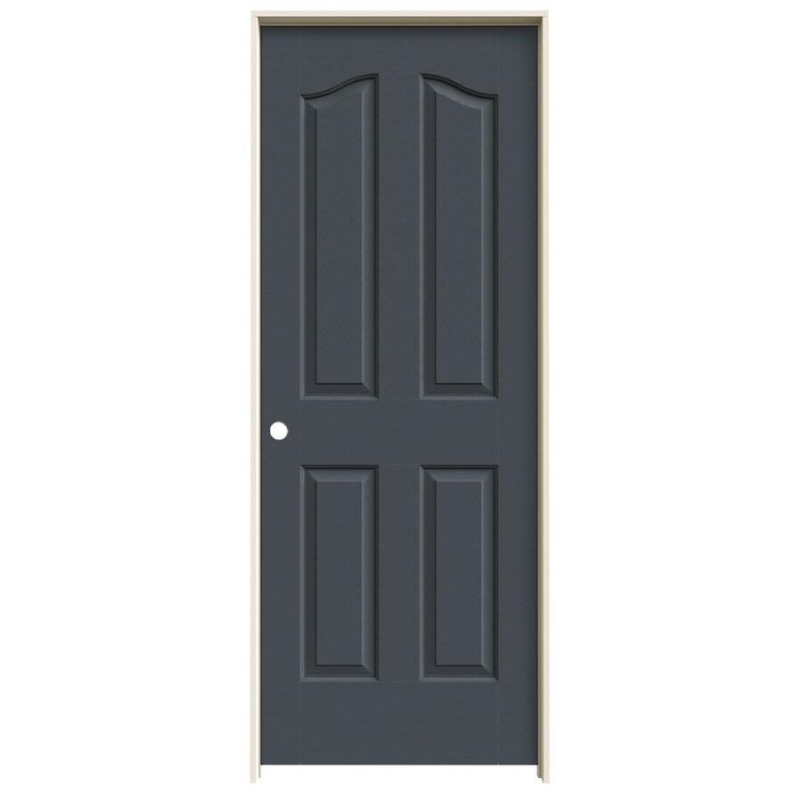 JELD-WEN Slate Prehung Solid Core 4-Panel Arch Top Interior Door (Common: 28-in x 80-in; Actual: 29.562-in x 81.69-in)
